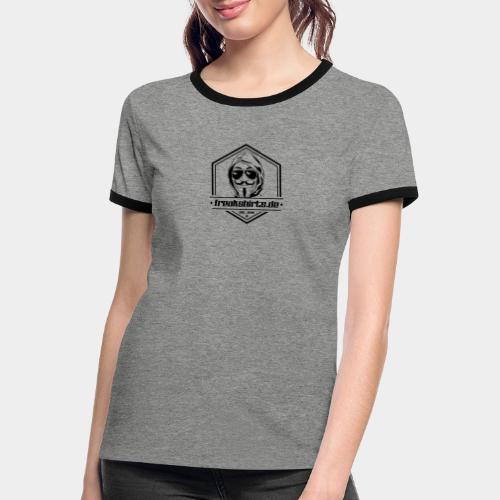 FREAKSHIRTS.de (Badge) - Frauen Kontrast-T-Shirt