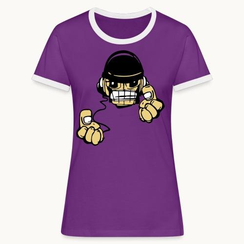 Micky DJ - T-shirt contrasté Femme