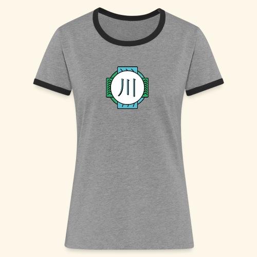 RIVER - T-shirt contrasté Femme