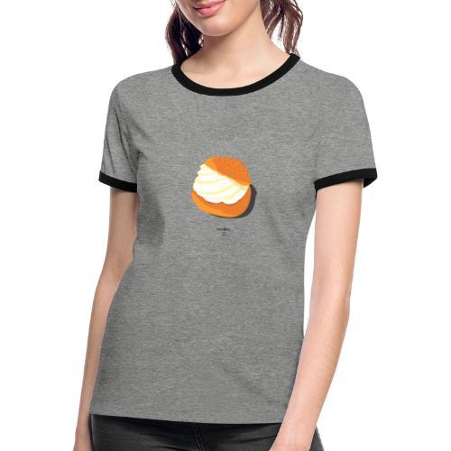Bollo. Lesbian Slang: Spain. Black. - Camiseta contraste mujer