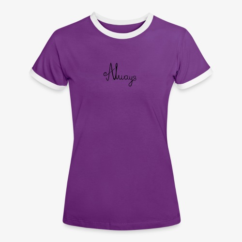 Always - Dame kontrast-T-shirt