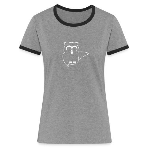 Nachtaktiv Outline 1C - Frauen Kontrast-T-Shirt