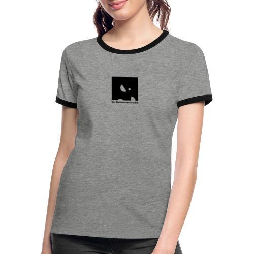 Logo Elefante Negro - Camiseta contraste mujer