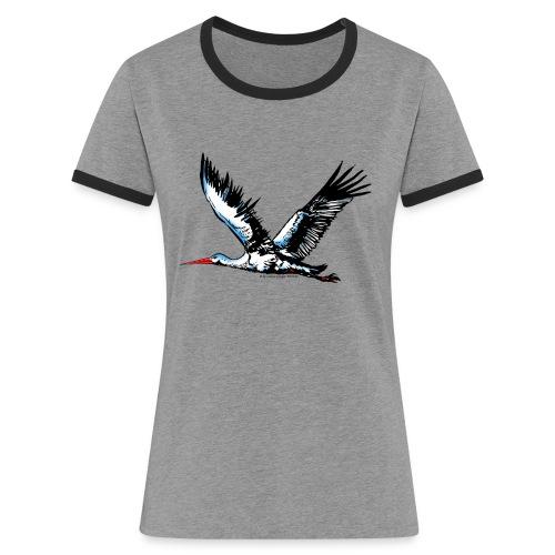 flyingstorchcolo1Tshirt4 - Frauen Kontrast-T-Shirt