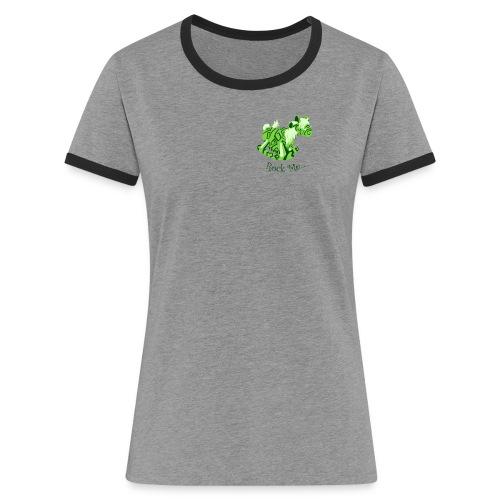 Rock_me - Vrouwen contrastshirt