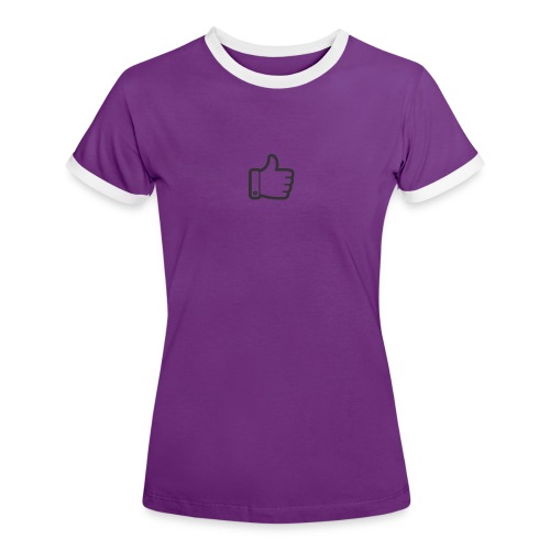 Like button - Vrouwen contrastshirt