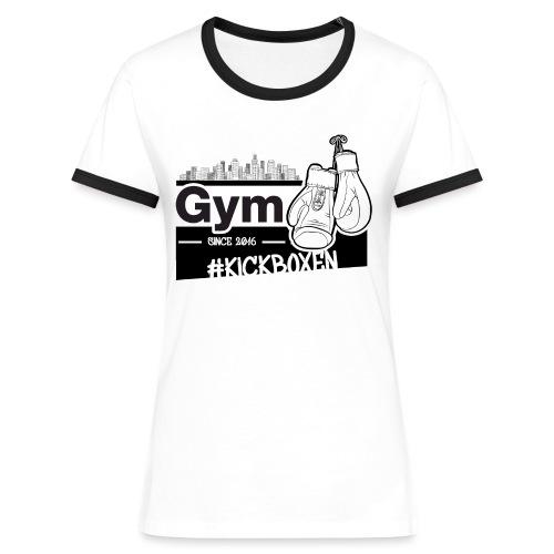 Gym in Druckfarbe schwarz - Frauen Kontrast-T-Shirt