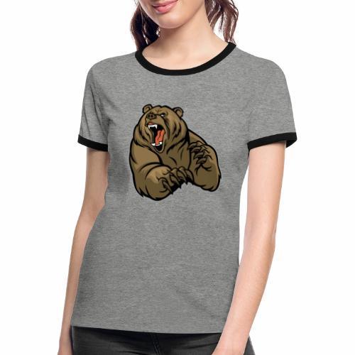 méchant grizzli - T-shirt contrasté Femme