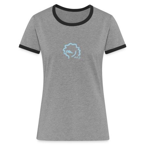 logoaesh1 - Frauen Kontrast-T-Shirt