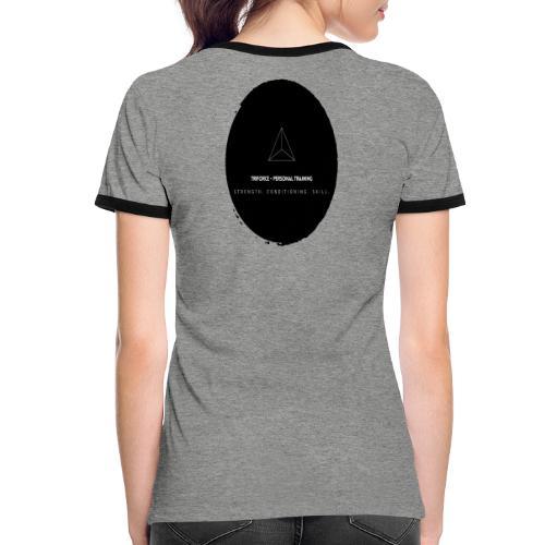 Triforce blend (black) - Frauen Kontrast-T-Shirt