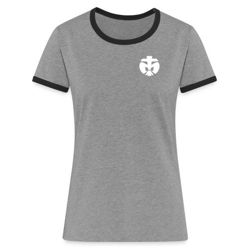 Lilie DPSG - Frauen Kontrast-T-Shirt