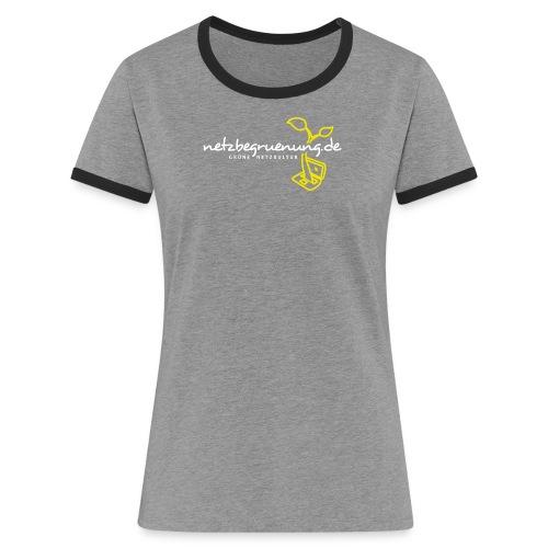 g4129 png - Frauen Kontrast-T-Shirt