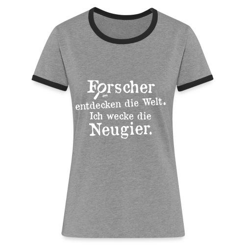 Motiv Basti Gestalte Zukunft werde Erzieher - Frauen Kontrast-T-Shirt