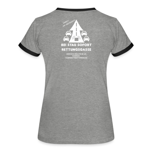 Rettungsgasse - Frauen Kontrast-T-Shirt