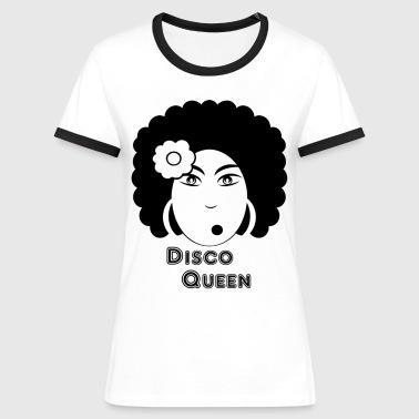 disco queen T-shirts - Vrouwen contrastshirt