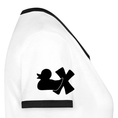 Ente mit X v3 3 klein - Frauen Kontrast-T-Shirt