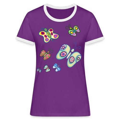 Allegria di farfalle - Maglietta Contrast da donna