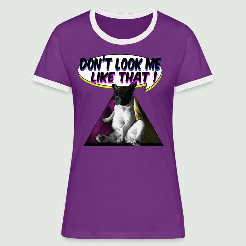 bouledogue français - T-shirt contrasté Femme