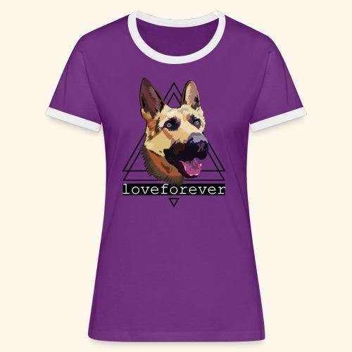 SHEPHERD LOVE FOREVER - Camiseta contraste mujer