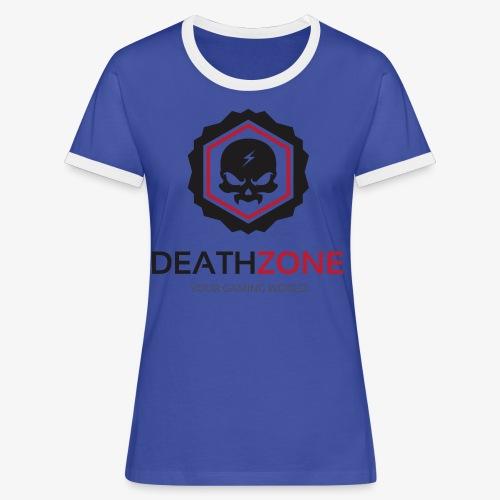DeathZone Logo Avatar - Koszulka damska z kontrastowymi wstawkami