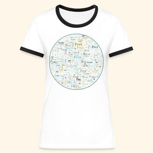 Ich bin - Frauen Kontrast-T-Shirt