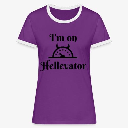 I'm on hellevator - T-shirt contrasté Femme