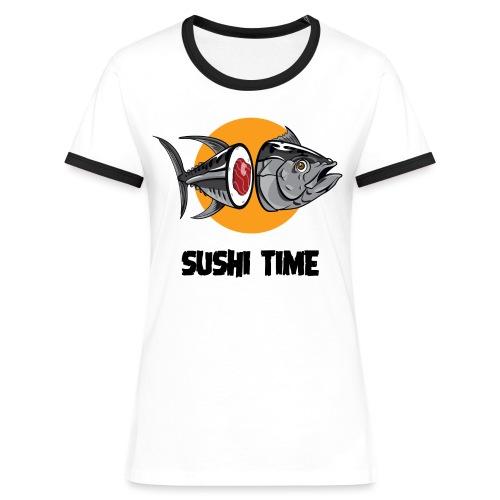 SUSHI TIME-tonno-n - Maglietta Contrast da donna