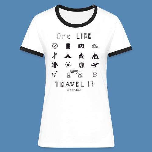 One Life, Travel It - T-shirt contrasté Femme