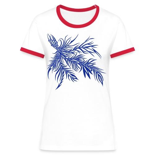fireleaf 2018 1 - Frauen Kontrast-T-Shirt