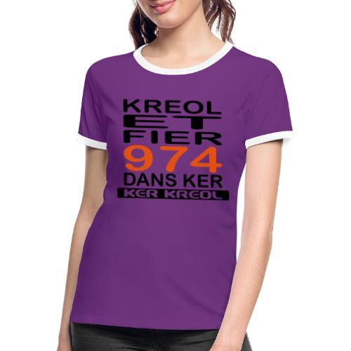 Kreol et Fier - 974 ker kreol - T-shirt contrasté Femme