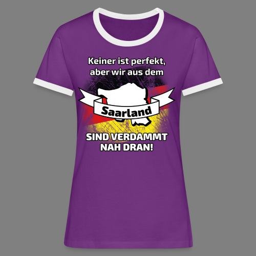 Perfekt Saarland - Frauen Kontrast-T-Shirt