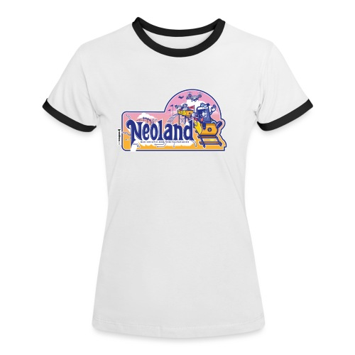 Neoland - das Kreativ- und Digitalparadies - Frauen Kontrast-T-Shirt