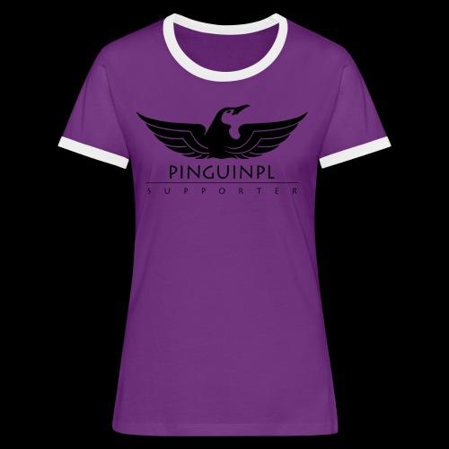 zwolennikiem Blackline - Koszulka damska z kontrastowymi wstawkami
