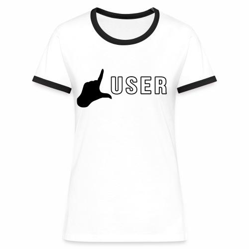 lusershirtlogo2 png - Frauen Kontrast-T-Shirt