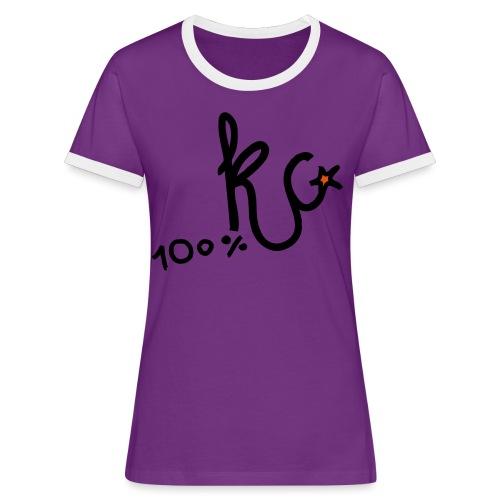 100%KC - Vrouwen contrastshirt