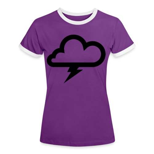 Wolke mit Blitz - Frauen Kontrast-T-Shirt