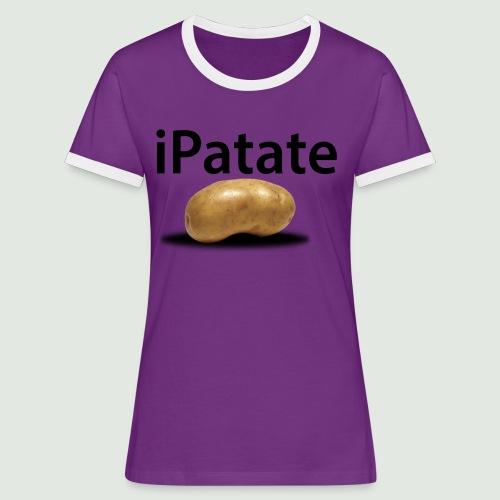 iPatate - T-shirt contrasté Femme