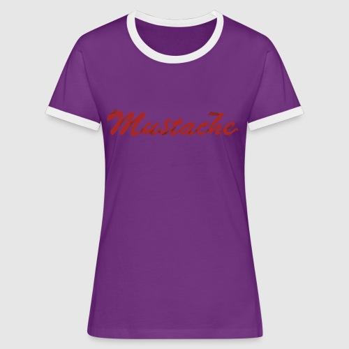 Red Mustache Lettering - Women's Ringer T-Shirt