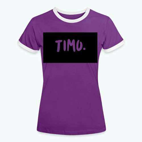 Ontwerp - Vrouwen contrastshirt