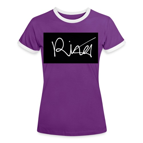 Autogramm - Frauen Kontrast-T-Shirt