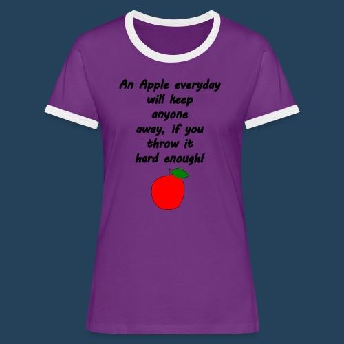 Apple Doctor - Frauen Kontrast-T-Shirt