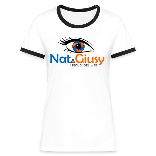 Nat e Giusy - Maglietta Contrast da donna