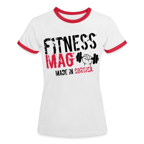 Fitness Mag made in corsica 100% Polyester - T-shirt contrasté Femme
