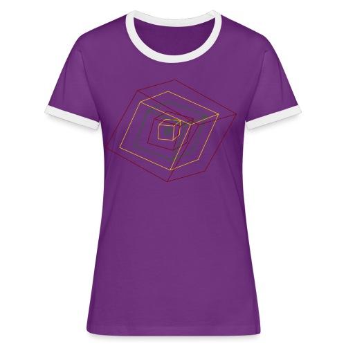 Rasta Cubes - T-shirt contrasté Femme