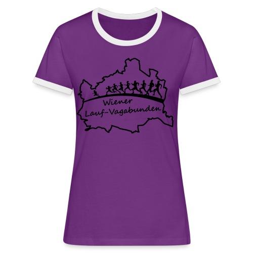 Laufvagabunden T Shirt - Frauen Kontrast-T-Shirt