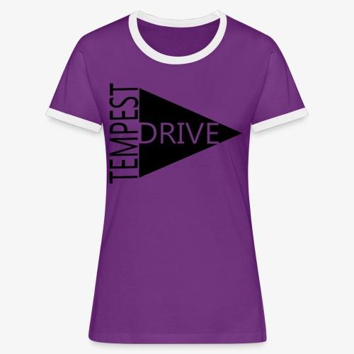 Komprimeret logo - Dame kontrast-T-shirt