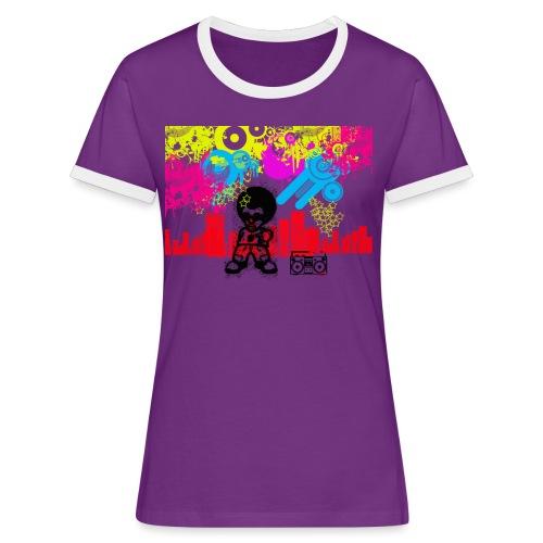 Magliette personalizzate bambini Dancefloor - Maglietta Contrast da donna