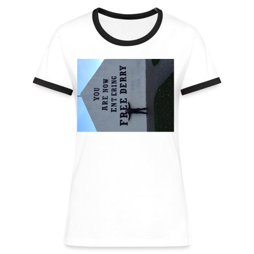 free derry - Women's Ringer T-Shirt