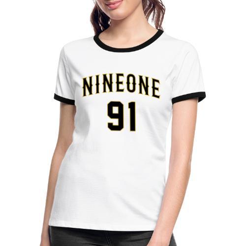 Nineone College Style 01 black - Frauen Kontrast-T-Shirt