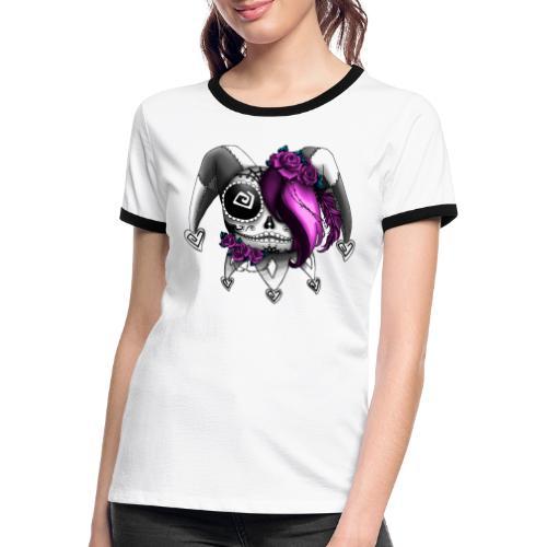 La Catrina Bajorette - Pink Lady - Frauen Kontrast-T-Shirt